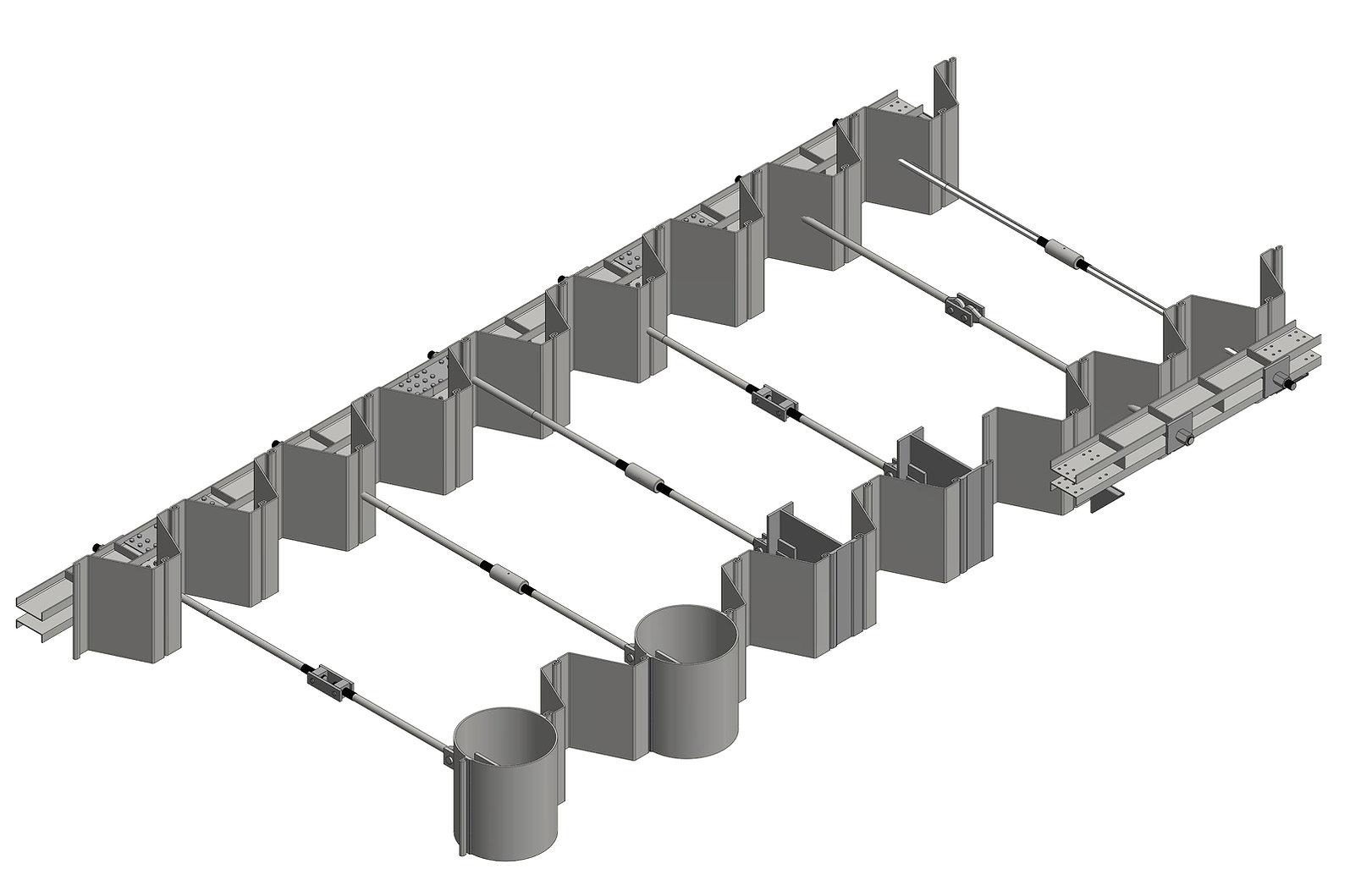 Componentes do sistema de tirantes