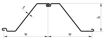 Cold formed Z sheet pile profile