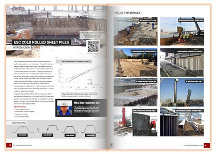 Cold rolled sheet piles catalog