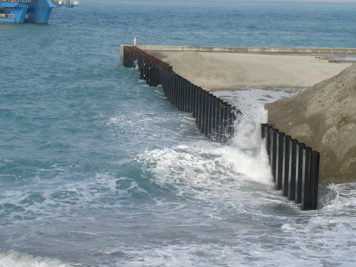 Sheet pile used in water front