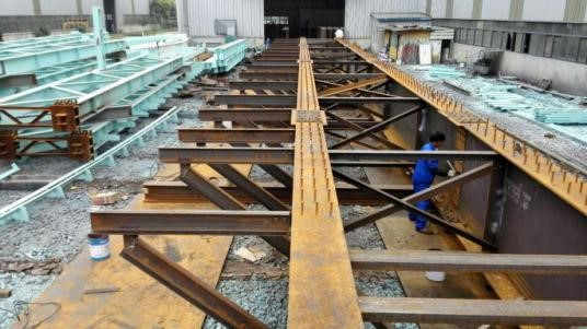 Bridge Girders Trial Assembly