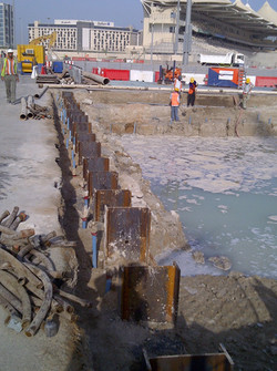 king h pile used in shoring works