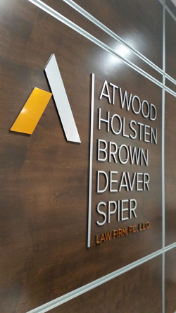 ATWOOD LAW INTERIOR BRUSHED LETTERS