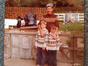 With my father and younger brother, around 1977.