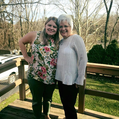 My mom and I at Easter