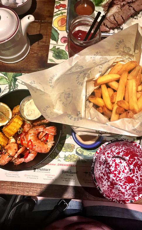 BBQ Shrimp and Fries