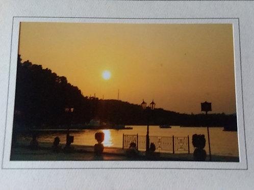 Sunset Blank Greeting Card