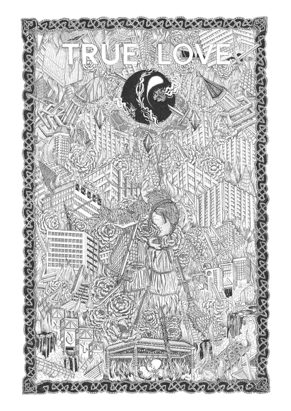 True Love Print, 1.5 metre x 1 metre