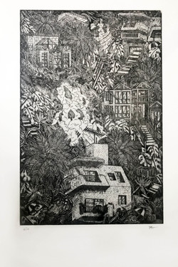 Rosemont Drive, Etching, 2017
