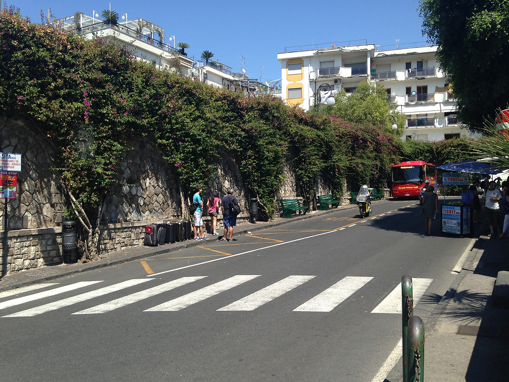 Where is the bus stop in Sorrento?