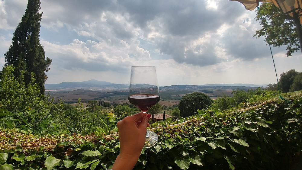 Wine tasting in Pienza Italy