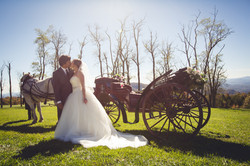 kiss with carriage