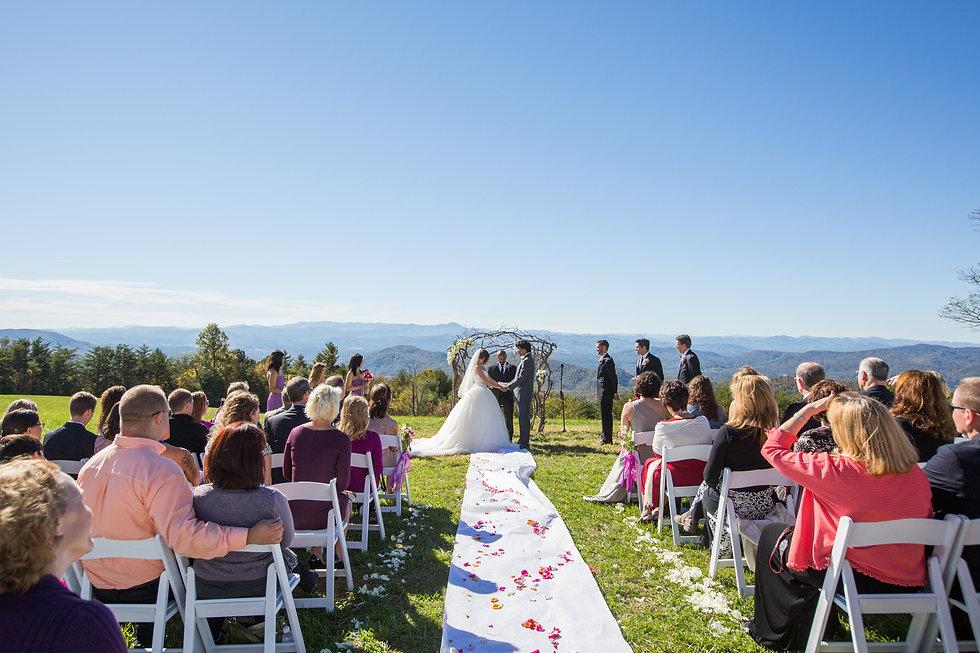 Mountaintop wedding | Blue Ridge Mountains North Carolina