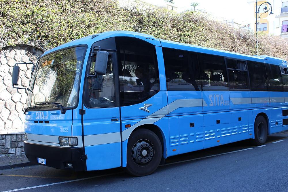 SITA bus from Sorrento to Amalfi
