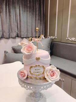 木馬玫瑰花蛋糕