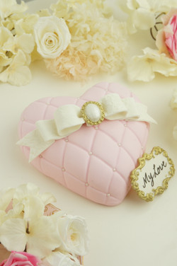 心形蝴蝶結蛋糕