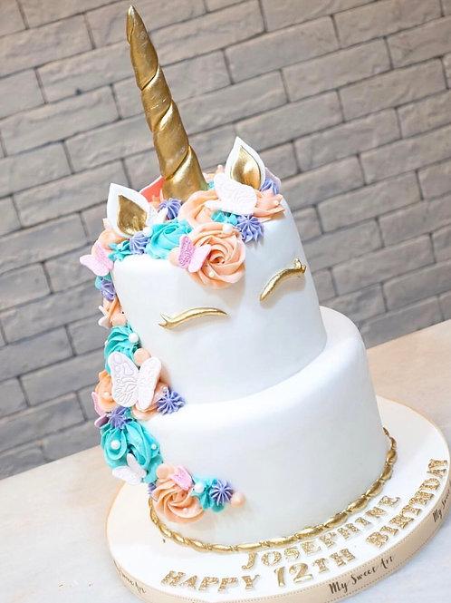雙層獨角獸蛋糕