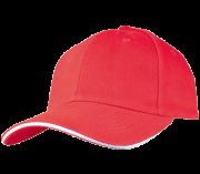 כובע אדום פס לבן
