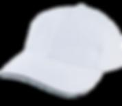 כובע לבן פס שחור