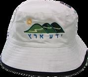 כובע טמבל לבן עם רקמה