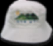 כובע רפול לבן עם רקמה