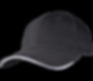כובע שחור פס לבן