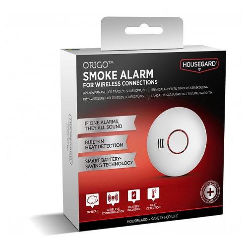 Origo trådløs, seriekoblet kombinerte røyk og varmealarm, 1-p