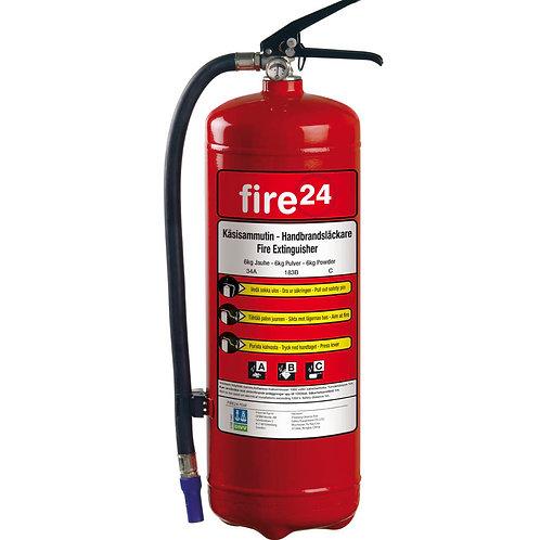 Housegard's Fire24, 6 kg pulverslokker,  34A 183B C