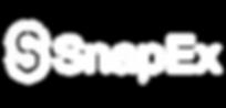 SnapEx logo (white on transparent - hori