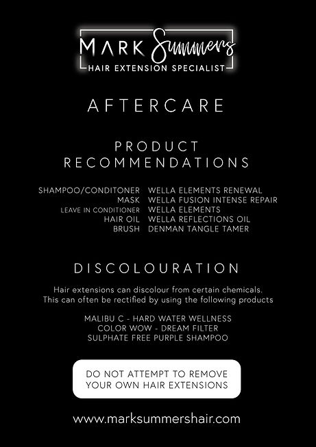 Mark Summers Hair Extensions | Aftercare