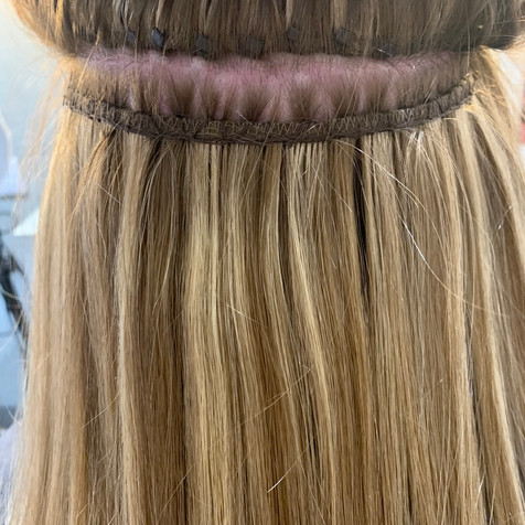 Hair Extension Application | Weft Hair Extensions