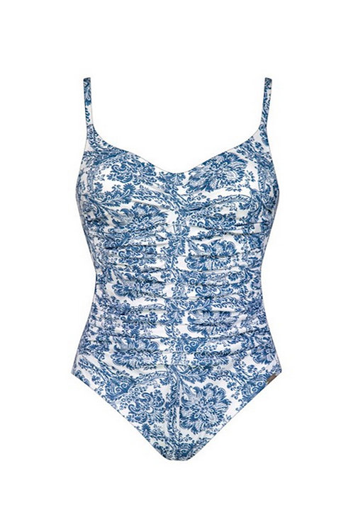 Porcelain Ruched One Piece