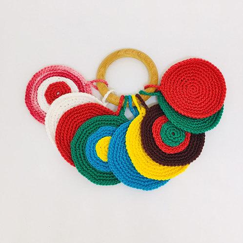 Bolachas de Crochê (e a mistura das cores)