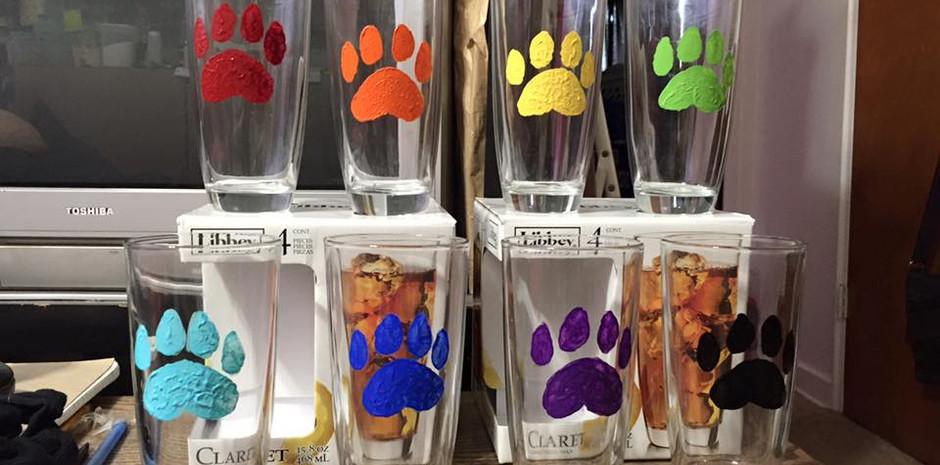 Custom Painted Drink Glasses
