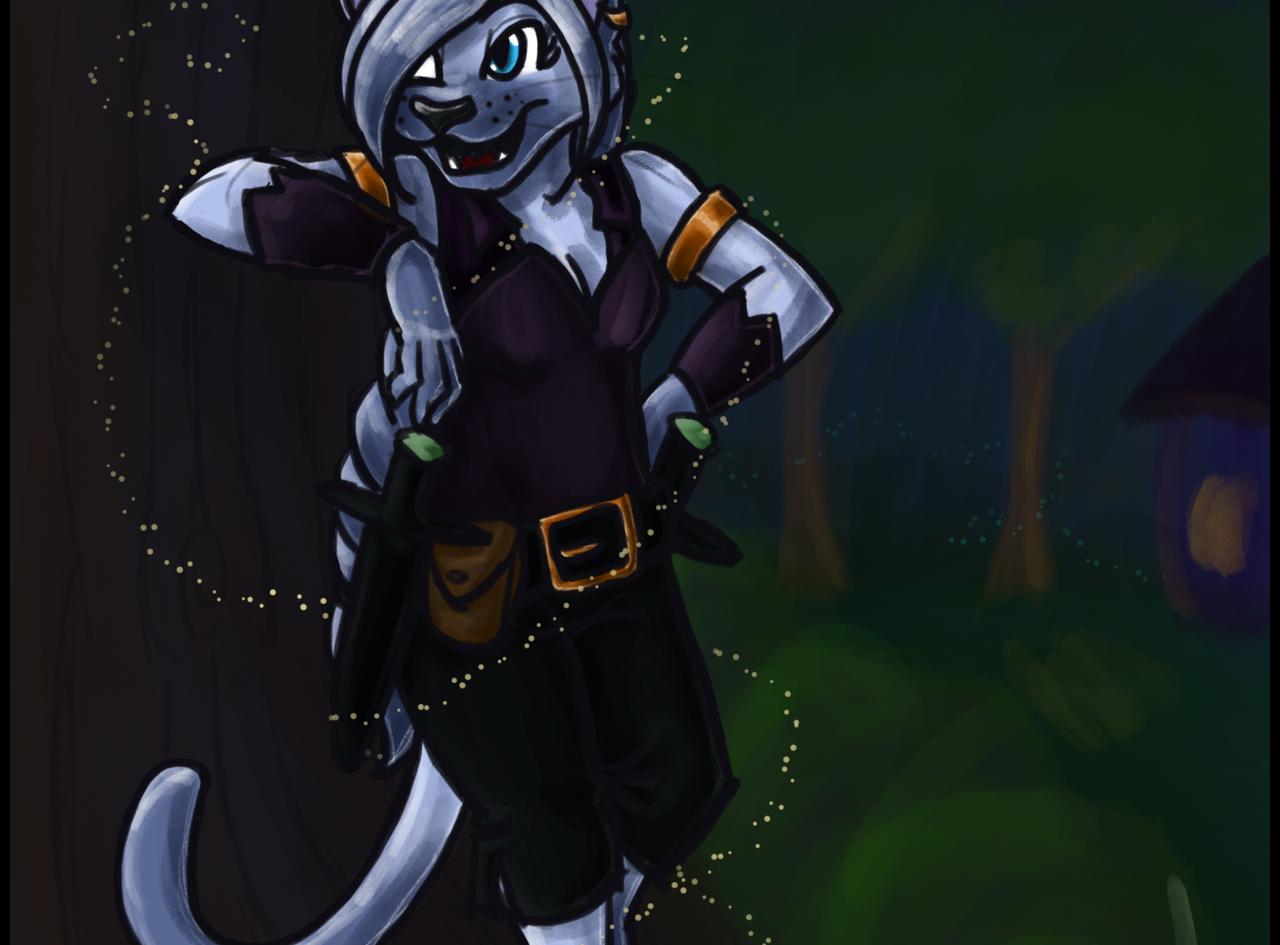 Rhea - D&D Catfolk Rogue