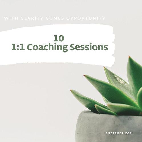 Ten 1:1 Transformational Coaching Sessions
