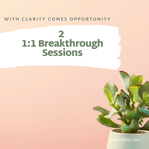 Two 1:1 Breakthrough Sessions