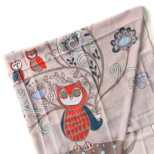 OWL PRINT EARTH - Pink