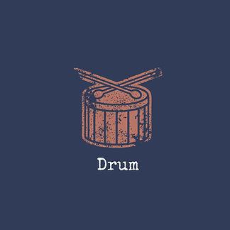 สำเนาของ Blue and Red Drum Grunge Music and Bands Pop Culture T-Shirt.jpg