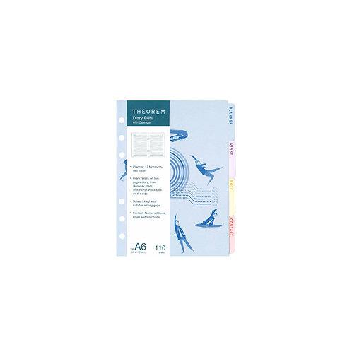 Refill Diary with Calendar A6 (2021)