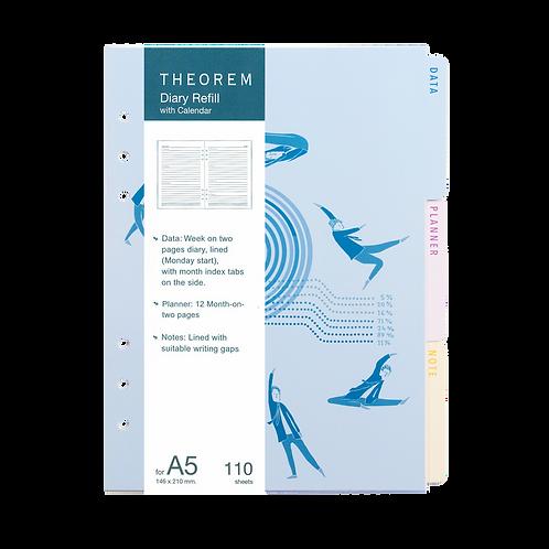 Refill Diary with Calendar A5 (2021)