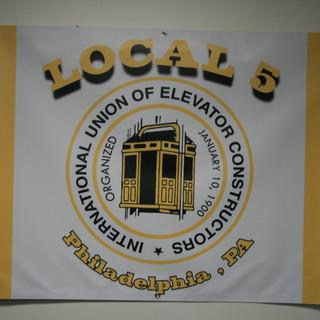 banner for L.U. 5 of philadelphia