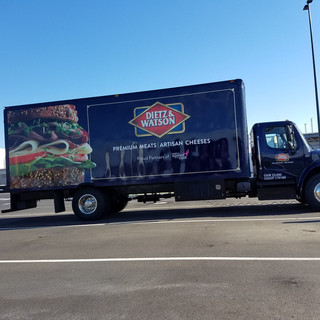 Truck Lettering for refrigerated box tru