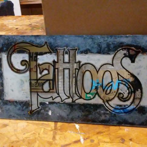 Tattoos custom mirror sign