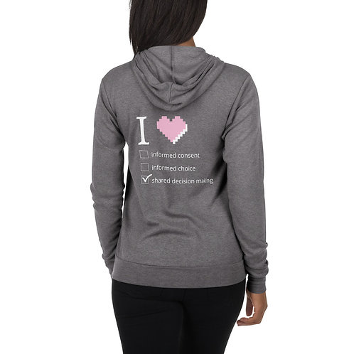 Shared Decision Making Unisex zip hoodie