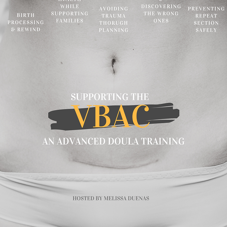 An Advanced Doula Training: Supporting The VBAC