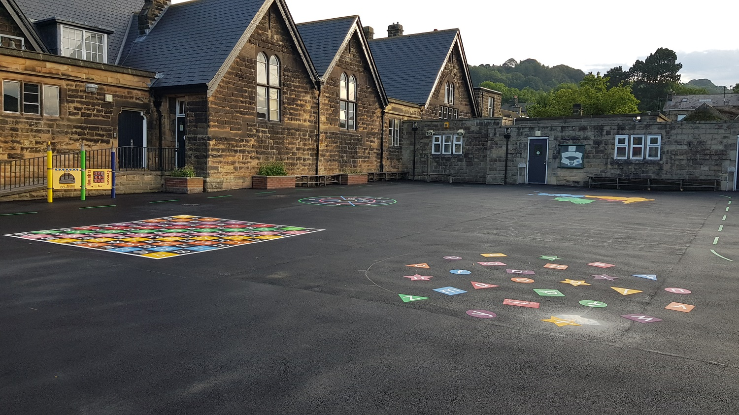 P13 Playground Tarmac Surfacing & Playground Markings at Ashover Primary School in Ashover