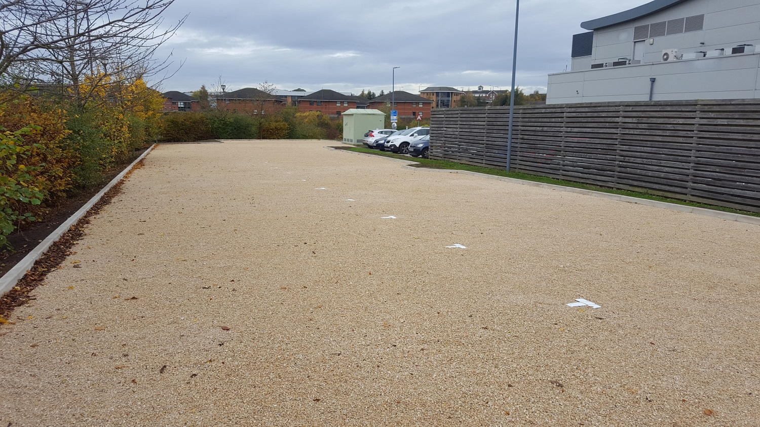 F25 Construction and Gravel Grids to Car Park Extension at NHS Treatment Centre in Barlborough