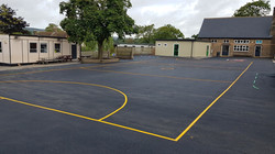 P5 Sports Court Tarmac Surfacing & Sports Court Markings at Ashover Primary School in Ashover