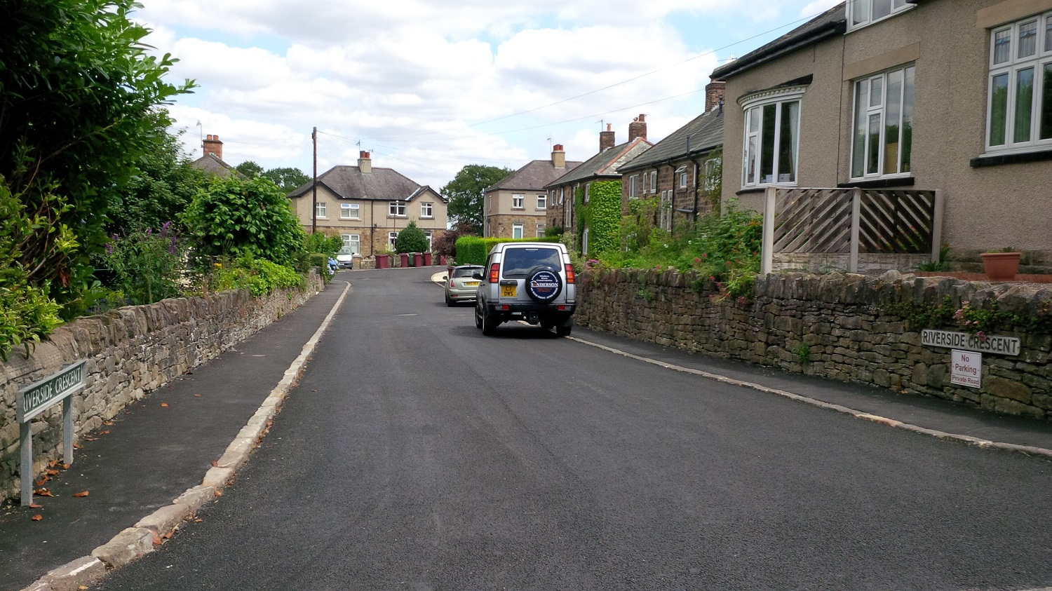 F35  Tarmac Surfacing to Private Access Road at Holymoorside in Chesterfield